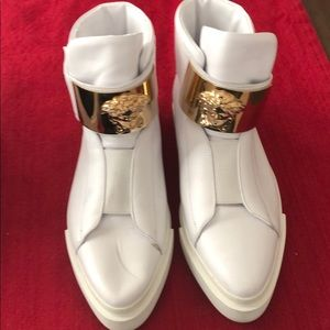 Versace White Ankle Boots